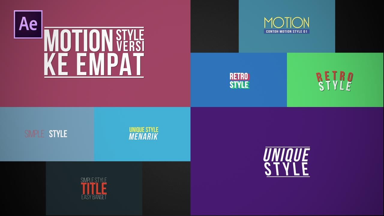 Motion Titles Pack 01 (Free)