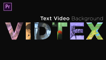 text background video berbeda setiap huruf